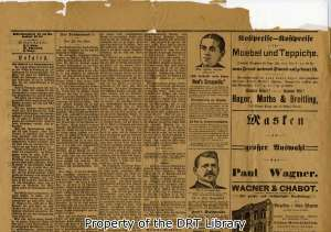 Top half of the back page, Freie Presse fur Texas, March 9, 1893