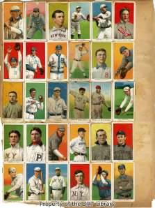 One page of T206 White Border cards.