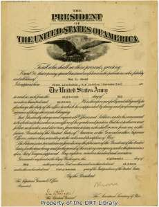 Certificate of appointment to the Air Service, U.S. Army, May 18, 1918.