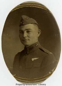 Portrait of Hal Irby Greer taken in France during World War I.