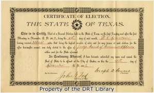 Certificate of Election for William Lewis Davidson, 1902