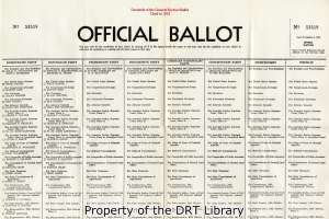 Facsimile ballot for the 1952 election, from the Handbook for Texas Voters, 1953.