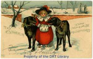 Christmas postcard from 1905.