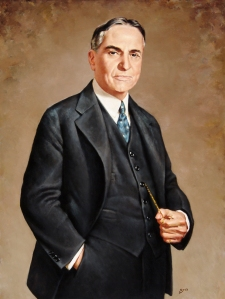 Painting of John King Beretta by Lonnie Rees, which now hangs in the DRT Library reading room. Gift of Mr. and Mrs. John Ward Beretta.
