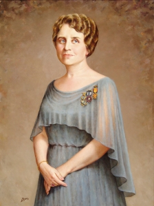 Portrait of Sallie Mills Ward Beretta by Lonnie Rees. Gift of Mr. and Mrs. John Ward Beretta.