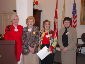 From left to right, Connie Impelman, DRT Library Committee Chairman; Madge Roberts, DRT President General; Debra Winegarten, Award winner; Elaine Davis, former DRT Library Director.