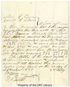 Bill of sale of 22 cows and calves to J.E.T. Burris from G.W. Buttery