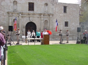 The Alamo and the DRT celebrate Texas Independence Day with a ceremony in Alamo Plaza.