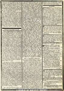 The report on the fall of the Alamo appears on the fourth page of the March 24th Diario.