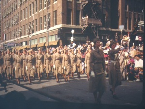 One of the Battle of Flowers Parade slides donated by Sister Michael.