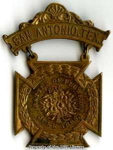 Battle of Flowers pin, 1895.