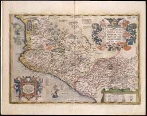 Abraham Ortelius's 1579 map, Hispaniae Novae.