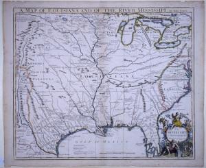 John Senex's A Map of Louisiana and of the River Mississipi, 1719.