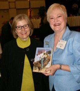 Helen Hemphill (left), winner of the 2008 Virginia M. Law Award, with Connie Impelman, DRT Library Committee Chairman.