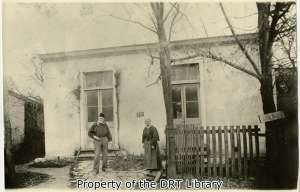 Theodore Gentilz his wife and Marie in front of their home at 318 Flores Street, San Antonio.