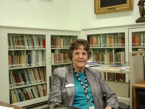 Beverly Ewald, DRT Library Cataloging Librarian.