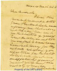 Waddy Thompson's letter to Samuel Maverick, March 1, 1843.