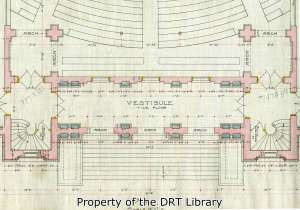 A detail of Dielmann's preliminary drawing of the first floor of the chapel.