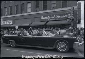 President John F. Kennedy in San Antonio. (SCElicson.09.003)