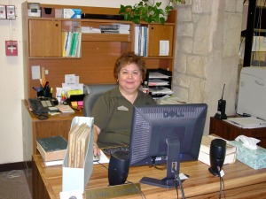 Library Assistant Lydia Cuellar.