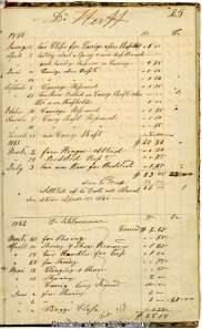 A page from John C. Beckmann's business ledger.