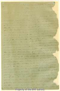 The first page of Rusk's report to President David G. Burnet describing the Battle of San Jacinto, dated April 22, 1836.