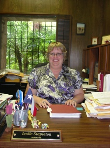 Leslie Stapleton, DRT Library Director.