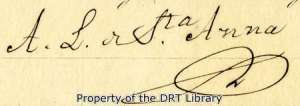 Detail of the mortgage bond showing Santa Anna's signature.