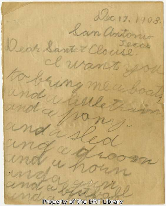 A letter to santa clouse inside the gates the first page of richards letter to santa spiritdancerdesigns Choice Image