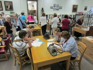 DRT members who visited the Library were able to see and use collection materials and converse with staff members.