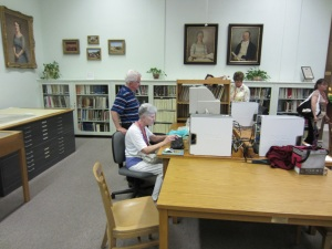Several DRT member who visited the Library conducted research.