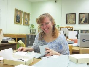 Volunteer Sara Schmidt.