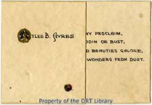 The cover of the poem.