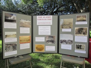 "The DRT Library's outdoor exhibit, ""The Alamo Through Time,"" at Founders Day."