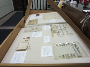 One Open House exhibit highlighted materials that reflected the Founders Day theme.