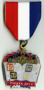 The DRT Library's 2012 Fiesta medal.