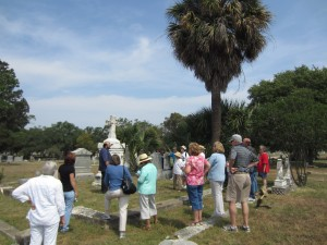 Forum attendees learned about the founder of the Menger Hotel, located just south of the Alamo, from Ernesto Rodriguez, San Antonio's City Cemetery No. 1.