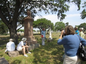 Sherri Driscoll presented information about Samuel Augustus Maverick and his famly.