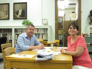 Researchers John Howard White and Angelica Sanchez-Clark.