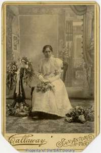 Esther Perez's graduation portrait, June 4, 1898.
