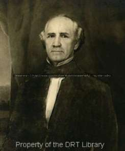 This image shows Sam Houston in about 1861 while he was governor of Texas. It was painted by Gustavus Behne (1828-1895). SC90.097, General Photo Collection, Daughters of the Republic of Texas Library.