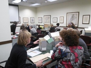 Practicing arrangement- how to find order in messy papers- at the Modern Archives Institute