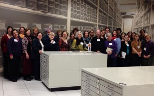 Talented and beautiful attendees of the 2014 winter edition of the Modern Archives Institute