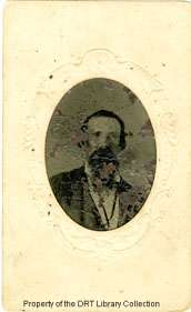 A tintype found within the collection is tentatively identified as Richard Hogue Dickson in middle age. Dickson Family Papers, DRT Library Collection.