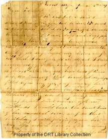 This is the love letter that Richard Hogue Dickson, son of Abishai Mercer Dickson, wrote to his future wife, Eleanor J. Read. They courted for several years before their marriage.