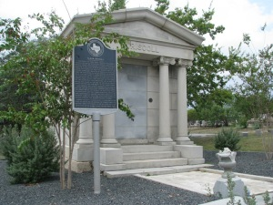 Clara Driscoll's mausoleum stands in the Masonic Cemetery today. A Texas Historical Marker was erected in her honor in 1978.